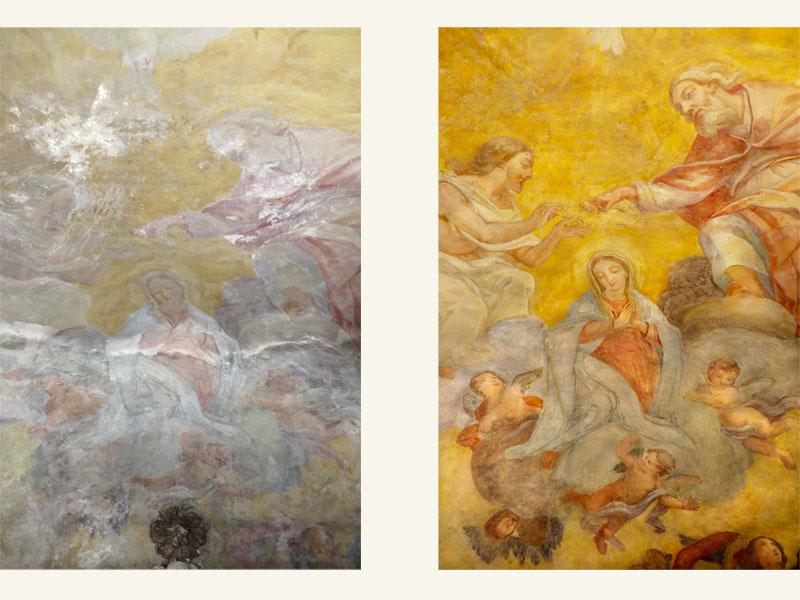 Affresco di Pie' Casavecchia MC, XV sec., anno restauro 2007
