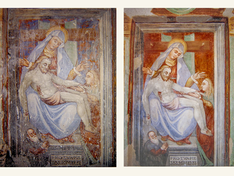 Affresco attribuito a Girolamo di Giovanni, 1457, anno restauro 2007