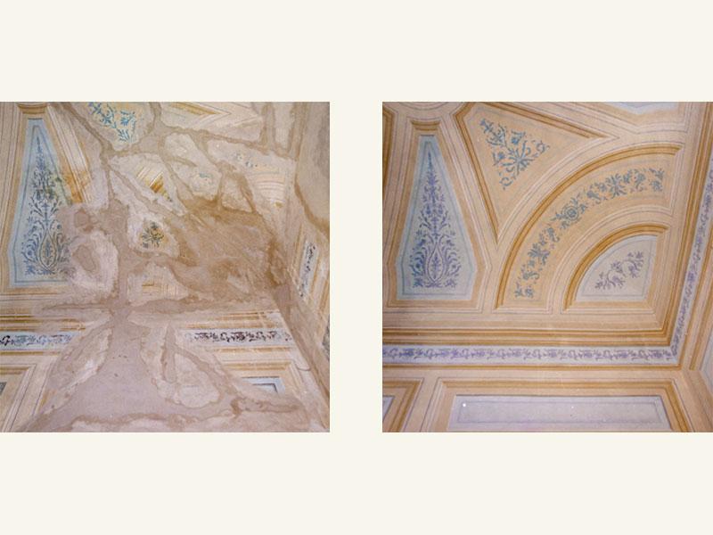 Proprietà privata, decorazione a tempera XIX sec., anno restauro 2005