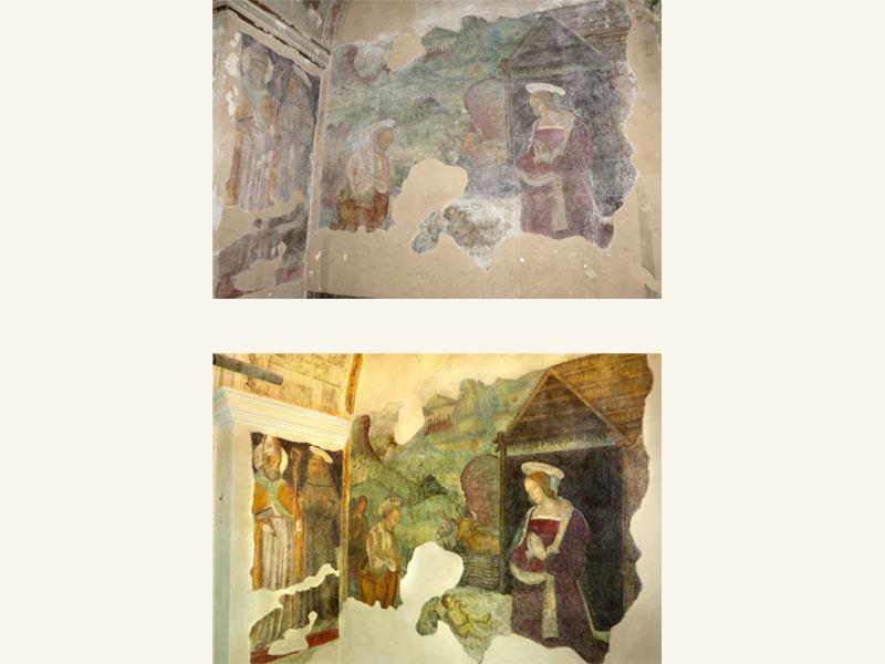 Affresco attribuito a Pier Antonio Mezzastris Foligno PG, XV sec., anno restauro 2016